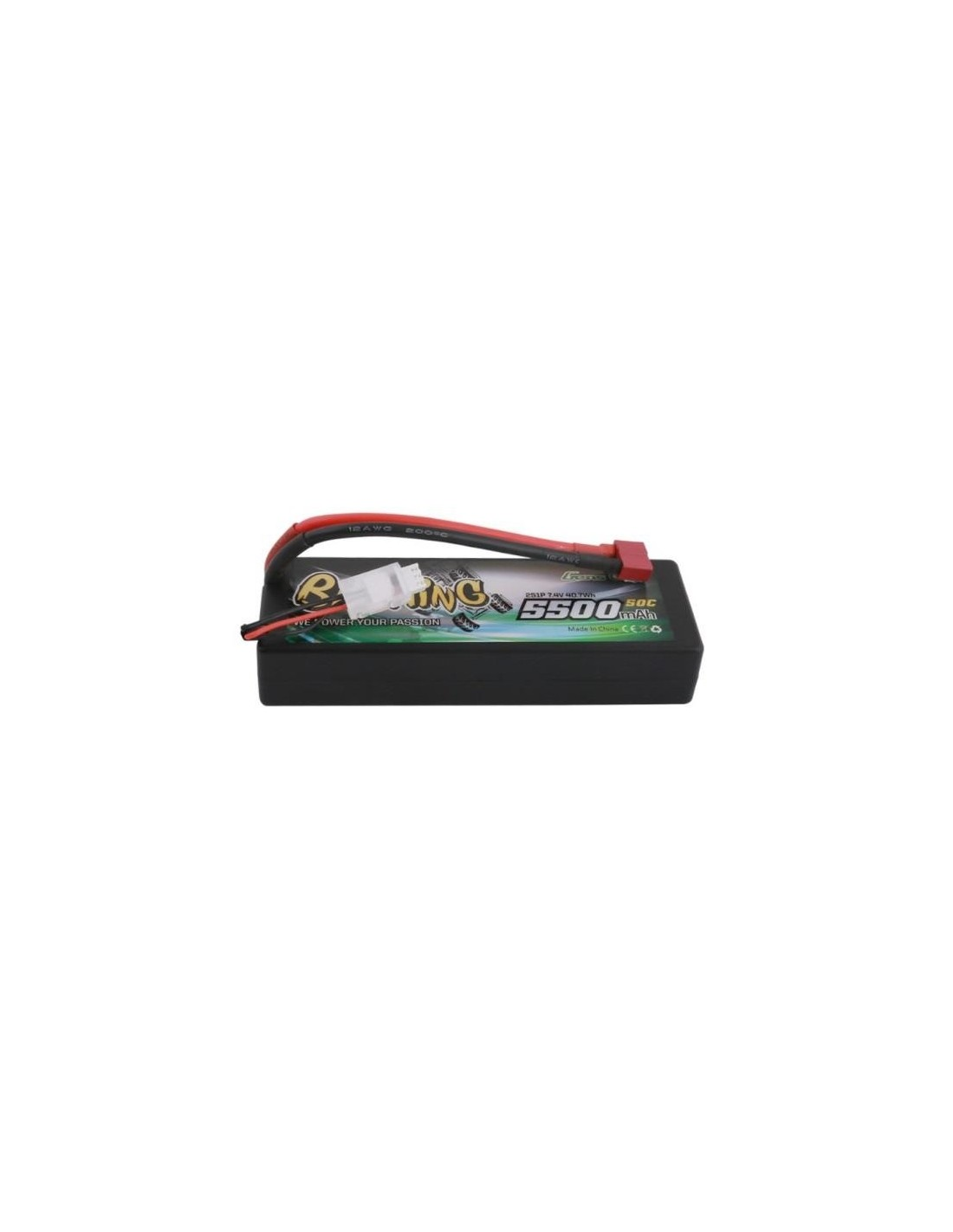 Batería LiPo GENSAce Bashing 5500mAh 7,4V 50C Hardcase