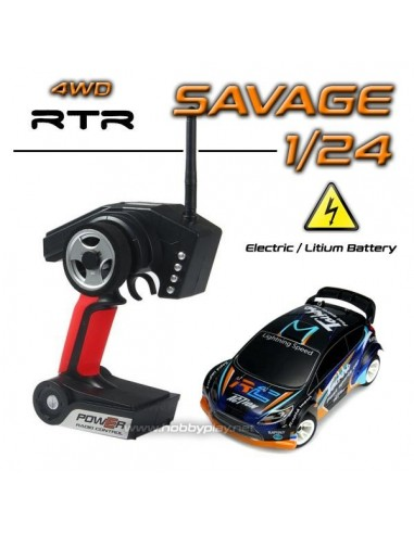 Coche Rally Savage 1/24 4WD 2.4Ghz RTR