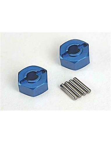 Wheel hubs, hex (blue-anodized,...