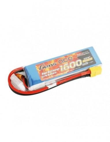 Batería LiPo GENSAce 1600mAh 7.4V 5C...