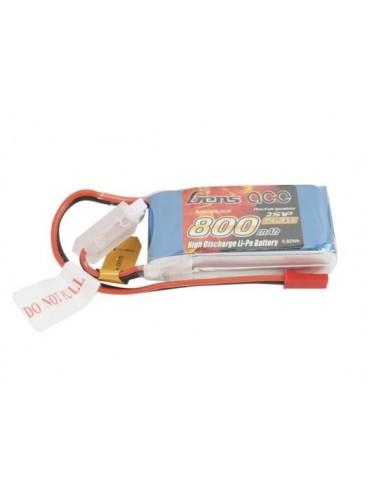Batería LiPo GENSAce 800 mAh 7,4V 45C 2S