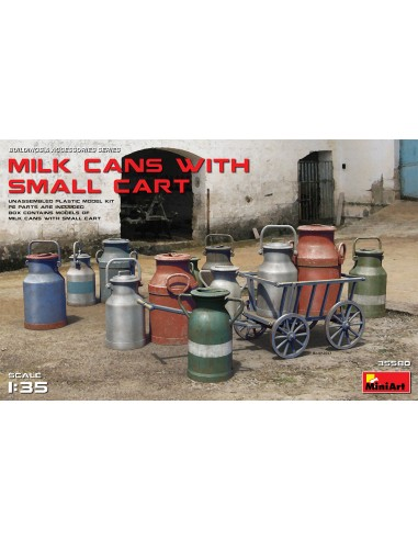 MiniArt Milk Cans With Small Cart 1/35