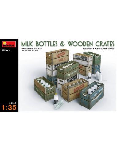 MiniArt Milk Bottles & Wooden Crates...