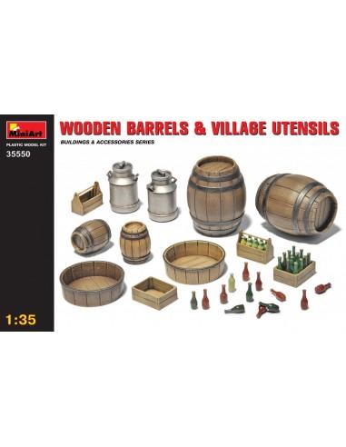 MiniArt Wooden Barrels & Village...