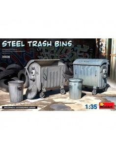 Steel Trash Bins 1/35 MiniArt