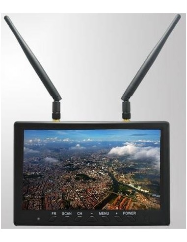 """Monitor LCD 7"""" Diversity 5,8Ghz."""