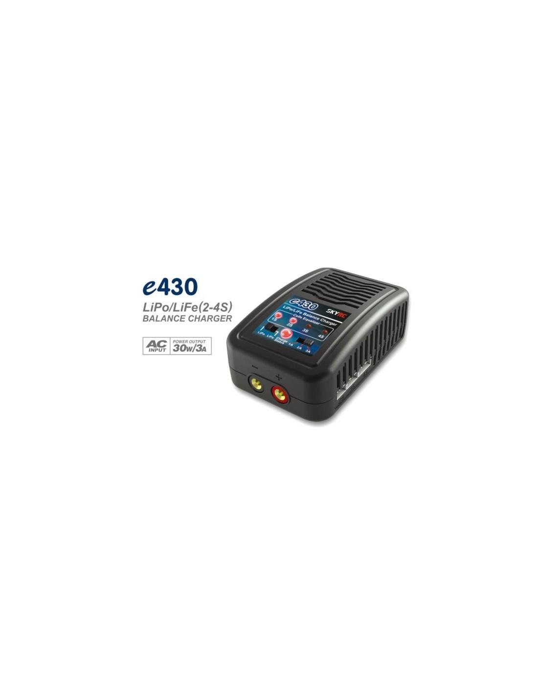 Cargador SKYRC e430 LiPo - LiFe 30W/3A Balanceador