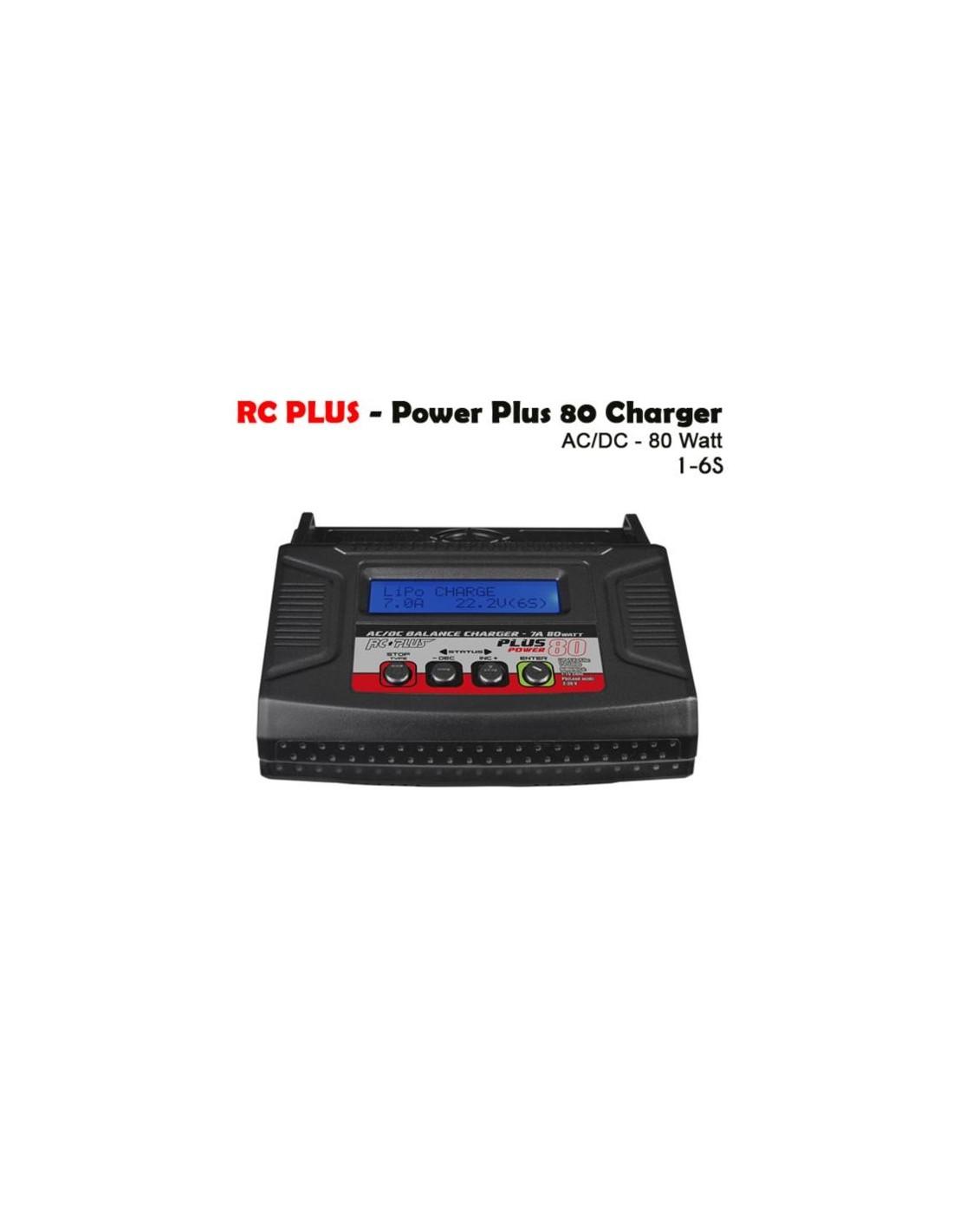 Rc Plus - Power Plus 80 Charger - AC-DC - 80 Watt